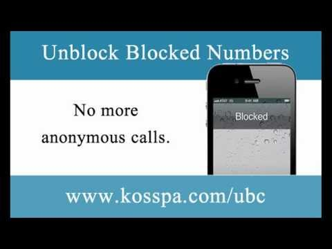how to discover blocked numbers