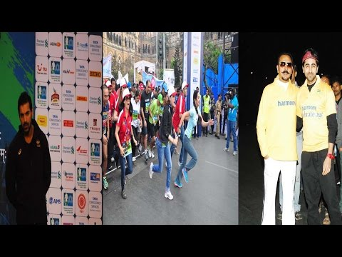 John Abraham & Other Celebs At Mumbai Marathon 2015