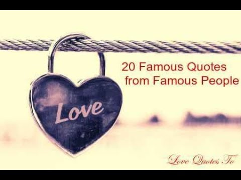 20 Famous Quotes From Famous People Part1