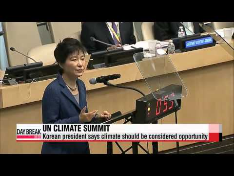 President Park calls on international community to face up to climate change   %EB%B0%95