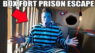 24 HOUR BOX FORT PRISON ESCAPE!! 📦🚔