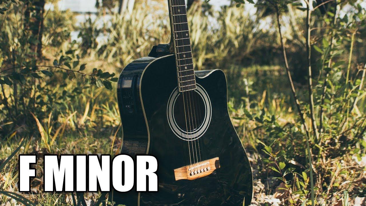 Acoustic Folk Guitar Backing Track In F Minor | Summer