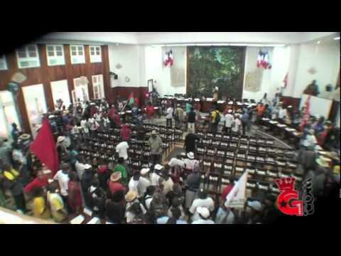 Occupation de l'hémicycle du Conseil Général par le LKP