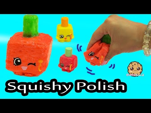 Squishy Animal Jam : DIY Glow In The Dark Squishy Polly Polish Makeup Shopkins Season 1 Inspired Craft Do It Yourself ...