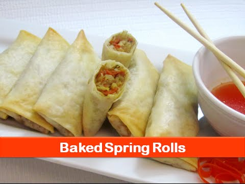 Baked spring rolls recipe/Easy healthy vegetable roll recipes/evening snacks ideas-let's be foodie
