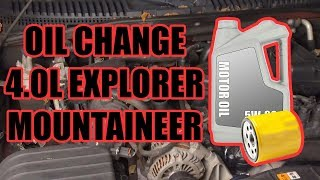 2002-2010 Ford Explorer Oil Change (4.0L V6)
