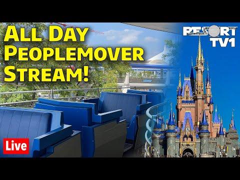 🔴ALL DAY TTA Peoplemover Live Stream at Magic Kingdom - Walt Disney World