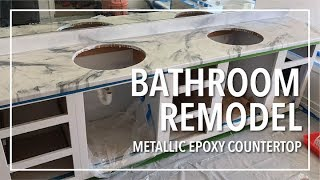 Bathroom Remodel | Epoxy Countertop | Game Changer!