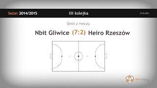 Nbit Gliwice vs Heiro Rzeszów (12 kolejka) - skrót