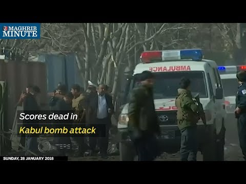 A bomb hidden in an ambulance has killed at least 95 people and wounded 158 more in Kabul.