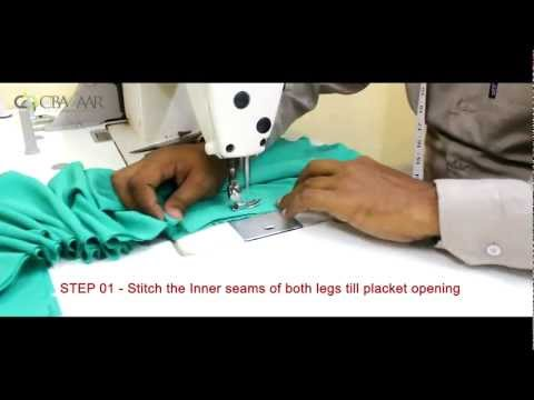 churidar - Salwar Stitching Tutorial by Cbazaar Learn how to stitch a salwar in _ simple steps. Log on to : www.cbazaar.com.