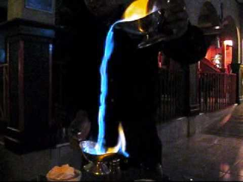 Flaming Waterfall of Mexican Coffee