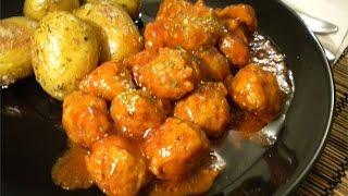 Mini Meatballs In Spicy Tomato Sauce