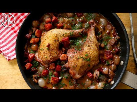 Keto Coq Au Vin (Chicken Cooked In Wine) | Keto Recipe | Headbanger's Kitchen