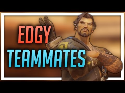 [Overwatch] Edgy Teammates (Hanzo) (видео)