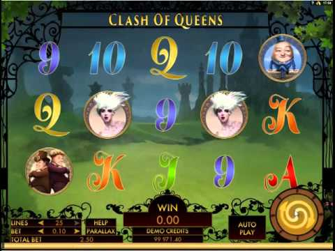 Clash Of Queens slot by Genesis Gaming - Gameplay