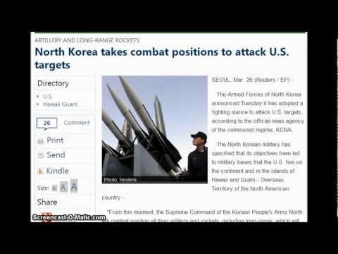 North Korea takes combat positions to attack U.S. targets. 3/26/2013
