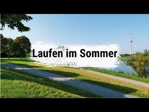 Laufen im Sommer bei Hitze und Sonne