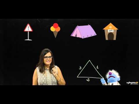 Figuras geometricas para ninos infantil y primaria. El triangulo