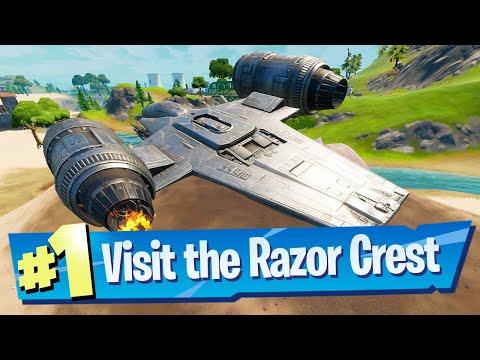 Visit the Razor Crest Location (Special Quest) - Fortnite Battle Royale