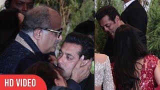Video CUTE MOMENT Salman Khan hug Katrina Kaif | Boney Kapoor Kiss Salman Khan MP3, 3GP, MP4, WEBM, AVI, FLV September 2018