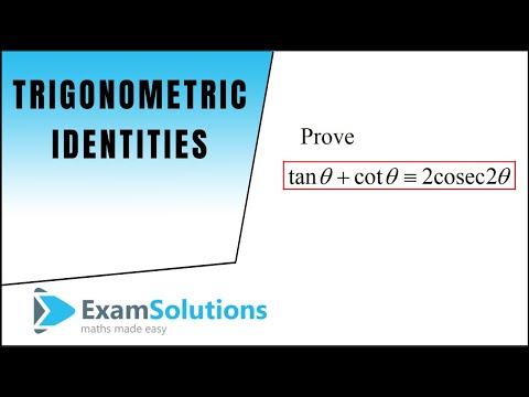 Trigonometrie Indentitäten - Zweifacher Winkel  (2): Examlösungen