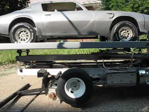 towtruck - RC rollback tow truck, fully functional.