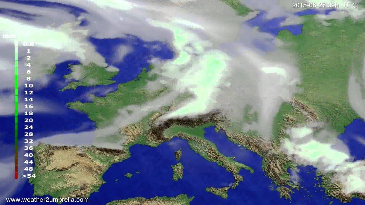 Precipitation forecast Europe 2015-06-23