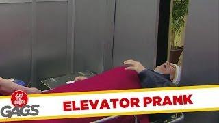 Head Caught In Elevator Doors Prank