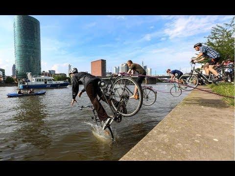 Radentscheid Frankfurt: Fahrradfahrer gehen unter