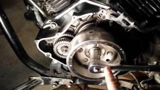 8. Yamaha Vstar1100 starter clutch replaced