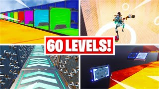 I found a 60 Level Deathrun with SIX Themes.... (Fortnite Creative)