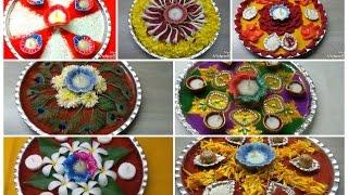 7 ● Decorative Pooja Thali Ideas/  Simple and Easy Pooja Thali  Decoration Ideas/ Decorative Thali.
