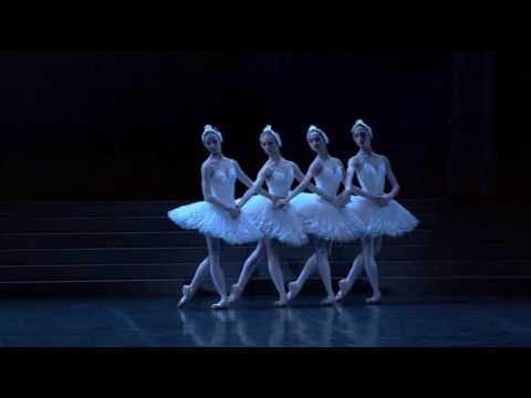 braham - Little Swans pas de quatre from Swan Lake (choreography by Nureyev). 2006. Dorothée Gilbert is on the far right, Myriam Ould-Braham second from left. The oth...