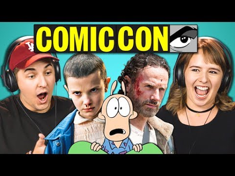 COLLEGE KIDS REACT TO COMIC-CON TRAILERS