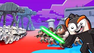 Empire vs Rebels - Star Wars HOTH Map Wars! (Minecraft)