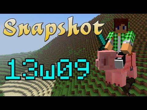 【Minecraft】13w09a紹介☆空飛ぶクリーパー?☆