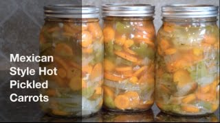 Ever wonder how to make those delicious spicy carrots you find at authentic Mexican food restaurants?  Or maybe the restaurants in your area aren't authentic.  What ever the case, this recipe makes perfect spicy carrots and is another great way to utilize commonly grown vegetables that you may find in your own garden.**** I forgot to include 1 T salt in the ingredients list****