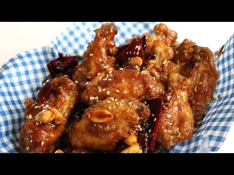 Crunchy Korean fried chicken recipe (Dakgangjeong: 닭강정)