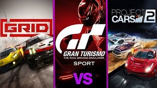 GRID 2019 vs GT Sport & Project cars 2  ( 4k upscaled Early Graphics Comparison) by DigitalModz