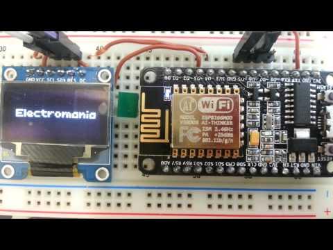 ESP8266 ESP-12E nodemcu V1.0 OLED Display SPI mode using U8Glib