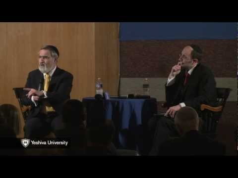 Oberrabbiner Lord Jonathan Sacks spricht an der Yeshiva University