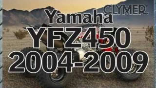 9. Clymer Manuals Yamaha YFZ450 ATV 4 Four Wheeler Maintenance Repair Manual Shop Service Manual Video