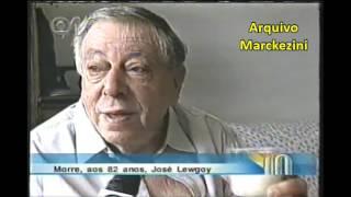 Matérias do Jornal das Dez (Globo News) e Jornal Hoje (Globo), noticiando a morte do ator José Lewgoy.Ele faleceu no dia 10/02/2003.