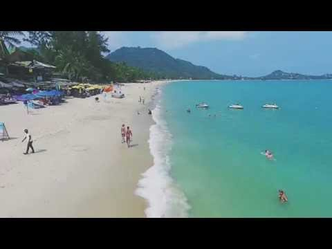 Lamai Beach Aerial Video, Koh Samui