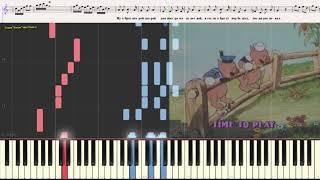 Три поросёнка (Нам не страшен серый волк) (Ноты и Видеоурок для фортепиано) (piano cover)