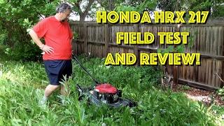 5. Honda HRX 217 Self-Propelled Gas Lawn Mower - Field Test & Review