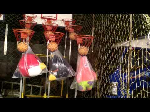 夜市籃球九宮格...終於全中啦..