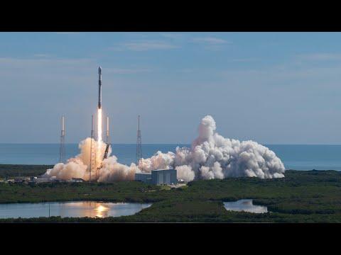 Falcon 9 запускает 58 спутников Starlink и 3 спутника planetlabs SkySats