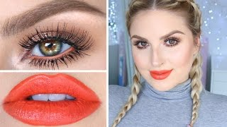 Drugstore Makeup Tutorial! ♡ Fun Orange, Neutrals & Bronze! by Shaaanxo